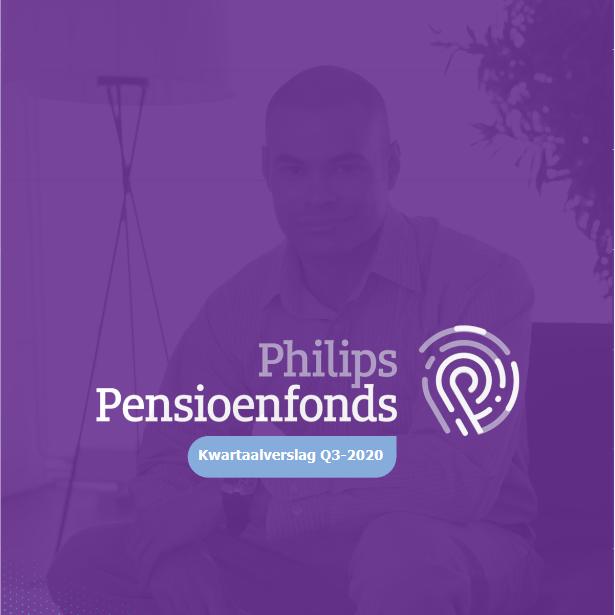De voorkant van het kwartaalverslag Q3 2020 van Philips Pensioenfonds.